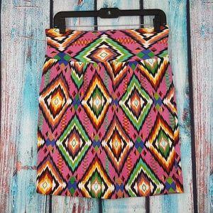 Free People Aztec Print Pencil Skirt